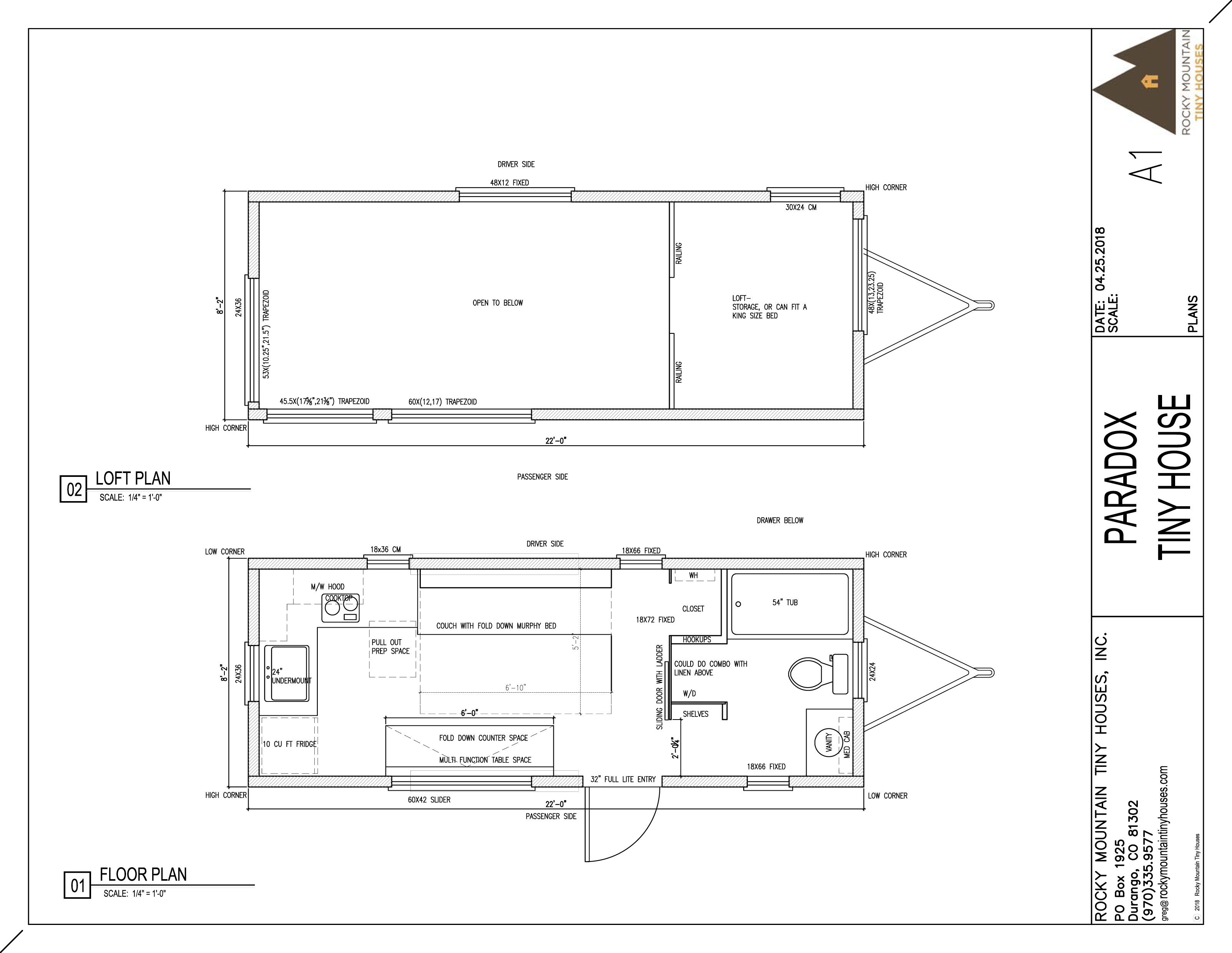 22' Paradox Tiny House - Rocky Mountain Tiny Houses on cottage floor plans, studio floor plans, home floor plans, small house plans, tiny houses on wheels, great tiny house plans, travel trailer floor plans, shed house plans, shipping container floor plans, tiny houses one story, architecture floor plans, tiny house plans 20x20, cabin house plans,